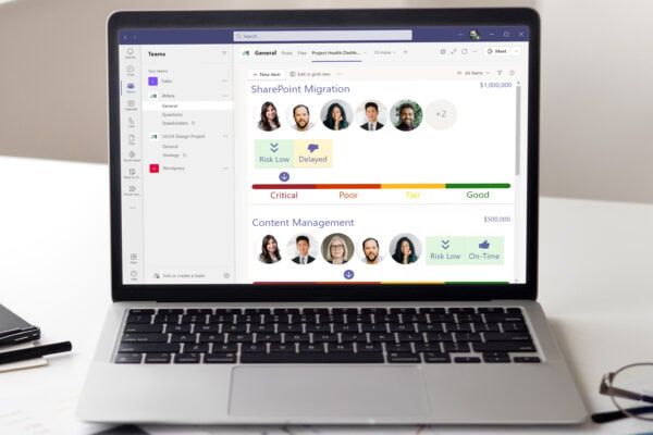 Microsoft SharePoint Screenshot of Teams integration with 4Mata