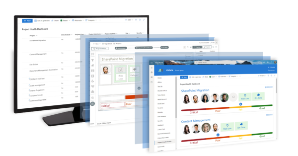 Microsoft Sharepoint Screenshot of 4Mata application
